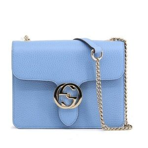 Gucci Interlocking GG Mineral Blue Shoulder Bag